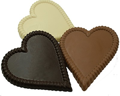 Large Solid Chocolate Hearts