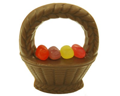 Chocolate Easter Basket with Jelly Beans 2 oz.