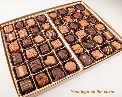 48 Piece Custom Collection Chocolate Assortment with Logo