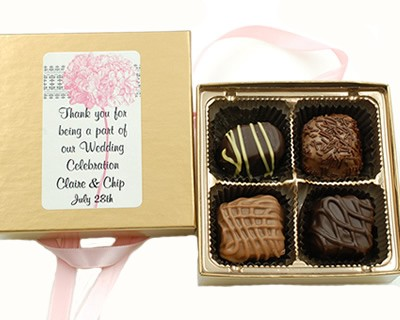 4 Piece Chocolate Assortment with Custom Label