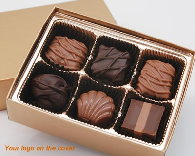 6 Piece Custom Collection Chocolate Assortment with Logo