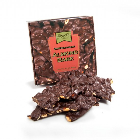 Dark Chocolate Almond Bark 12 oz.