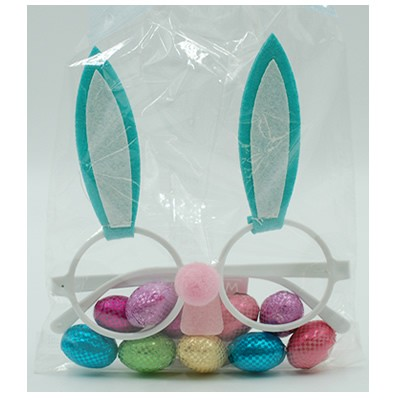 Bunny Glasses with Crisp Eggs