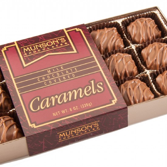Chocolate-Covered Caramels 8 oz.