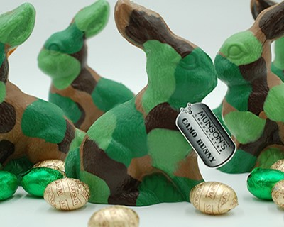 Hero Chocolate Camo Bunny 4 oz.