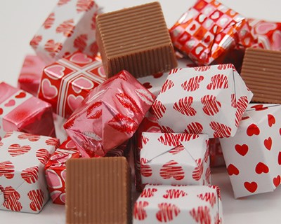 Milk Chocolate Valentine Foiled Presents