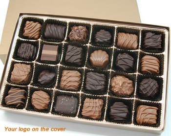 24 Piece Custom Collection Chocolate Assortment with Logo