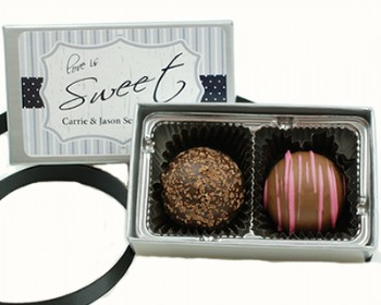 2 Piece Gourmet Truffle with Custom Label