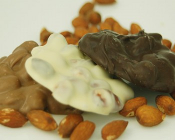 Chocolate Almond Bark 1 lb.