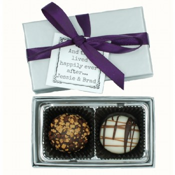 2 Piece Gourmet Truffle with Custom Tag