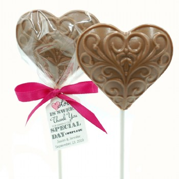 Chocolate Heart  Favor Pop 1.25 oz.
