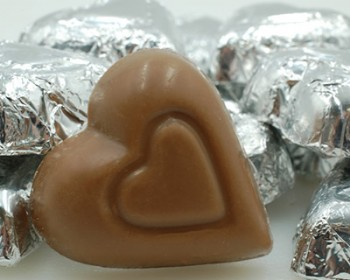 Milk Chocolate Silver Foiled Hearts