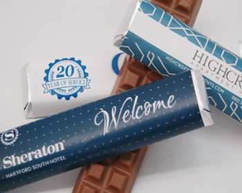 Milk Chocolate Bar with Custom Wrapper