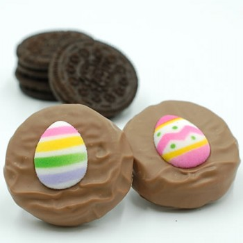 Milk Chocolate Covered Easter Oreos