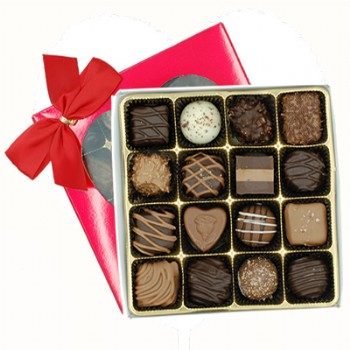 Chocolate Assortment in Red Box with Heart Window 7 oz.