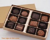 12 Piece Custom Collection Chocolate Assortment with Logo