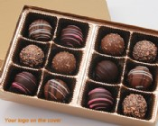 12 Piece Custom Gourmet Truffle Assortment with Logo
