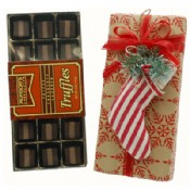 Triple Chocolate Layered Truffle with Stocking Ornament 5 oz.