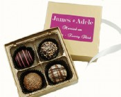 4 Piece Gourmet Truffle Assortment with Custom Label