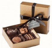 4 Piece Chocolate Assortment with Custom Tag