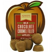 Caramel Filled Chocolate Apples 2 oz.