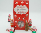 Milk Chocolate Foiled Santa Tote 8 oz.
