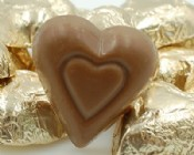 Milk Chocolate Gold Foiled Hearts