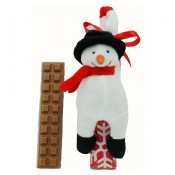 Milk Chocolate Bar with Snowman Magnet 1.5 oz.