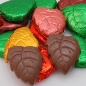 Milk Chocolate Foiled Leaves 1 lb.
