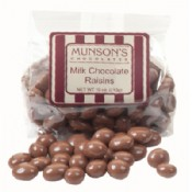 Milk Chocolate Covered Raisins 10 oz.