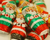 Milk Chocolate Foiled Santas 1 lb.