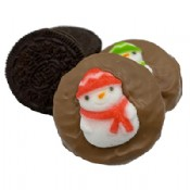 Chocolate Covered Christmas Oreo Cookies